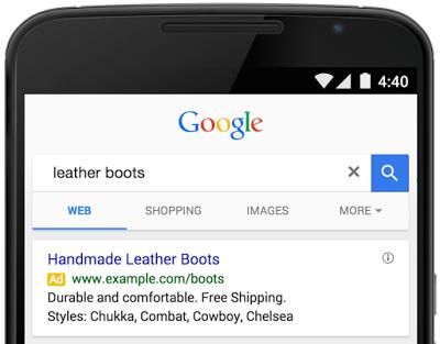 Google Ads Anzeige mit Snippet-Erweiterung. (Quelle: Inside AdWords)