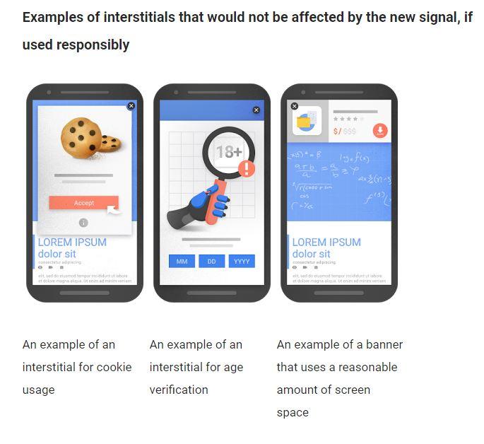 Beispiele für gute mobile Interstitials