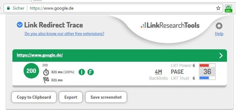 Link Redirect Trace Overlay