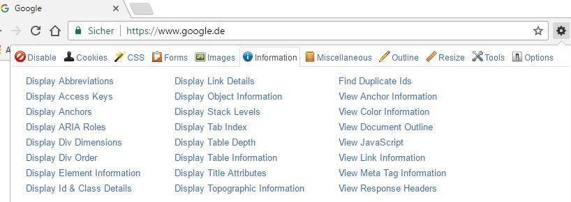 Web Developer Overlay