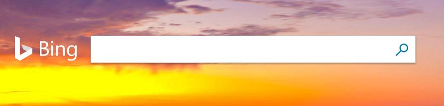 Bing Suchleiste. Jeden Tag ein neues und schönes Hintergrungsbild