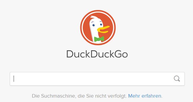 DuckDuckGo Suchleiste