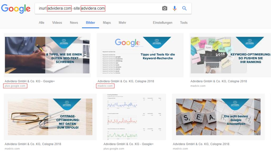 Google inurl-Suche