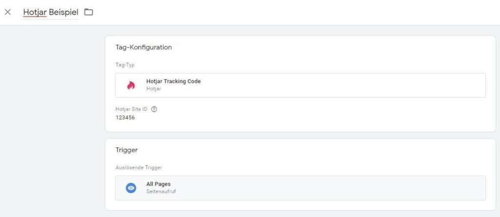 Hotjar Implementierung in Google Tag Manager