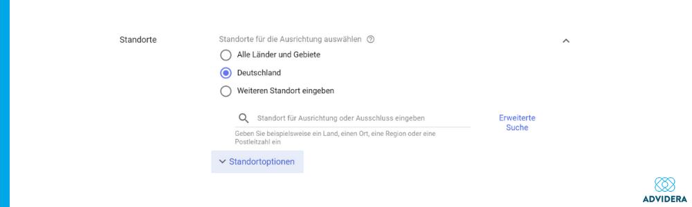Ort Google Ads Fehler