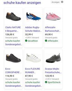 Bing Shoppinganzeige
