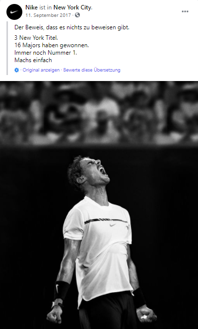 Facebook Ad Beispiel Nike