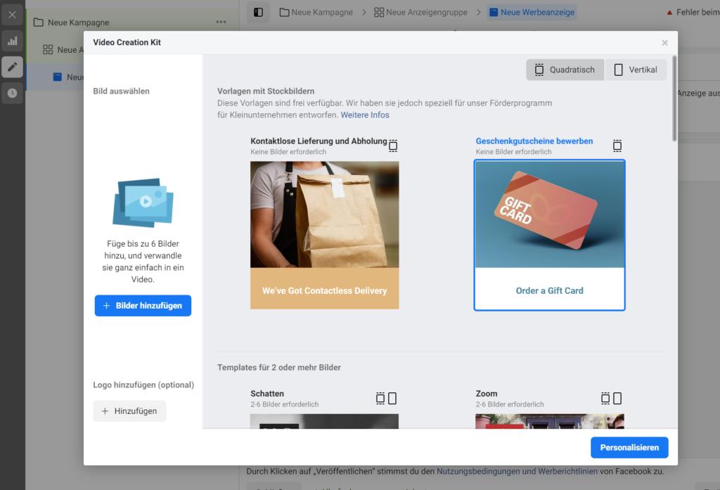 Das Video Creation Kit von Facebook