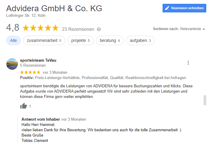 Google Bewertungen kaufen
