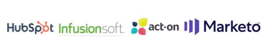 Führende Software-Plattformen wie HubSpot Infusionsoft Act-On Marketo