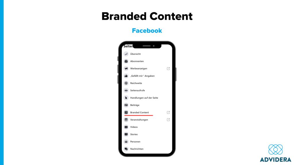 Branded Content Facebook