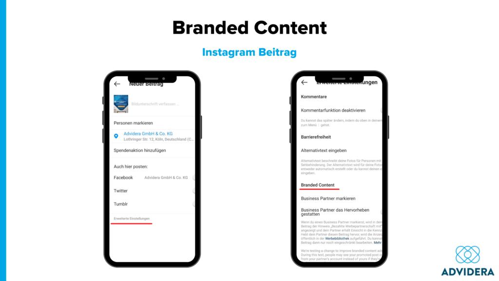 Branded Content Instagram Beitrag