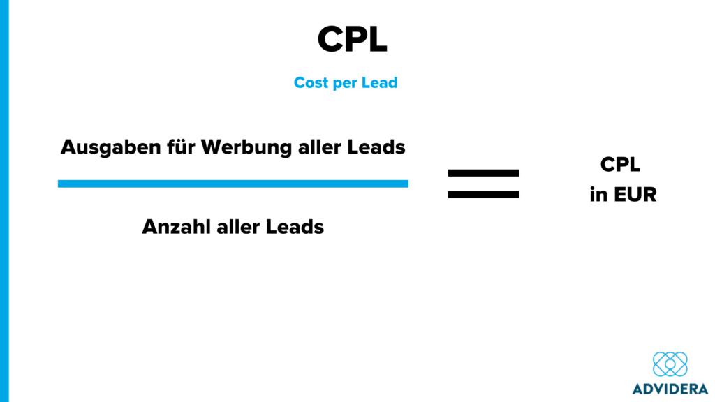Berechnung cpl cost per lead
