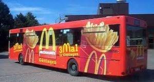 Beispiel Außenwerbung McDonalds