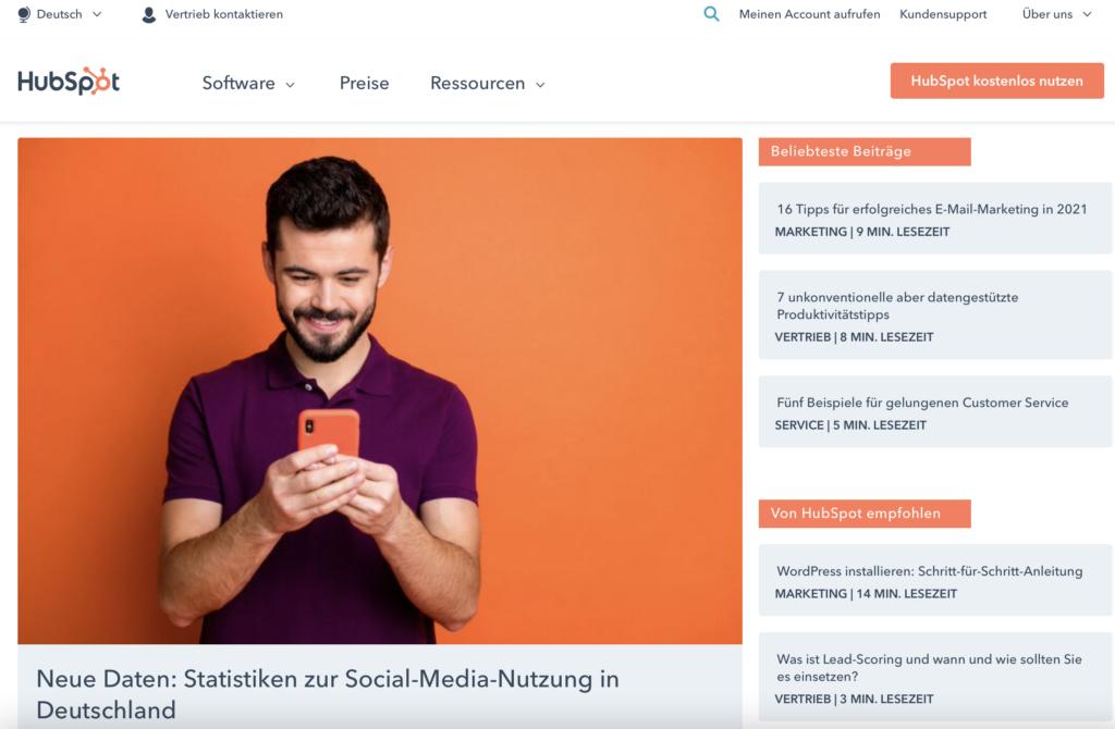 Beispiel Marketing Blogs HubSpot