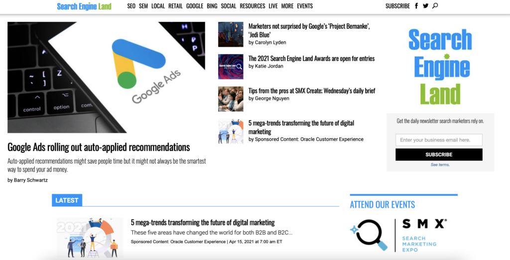Beispiel Marketing Blogs Search Engine Land