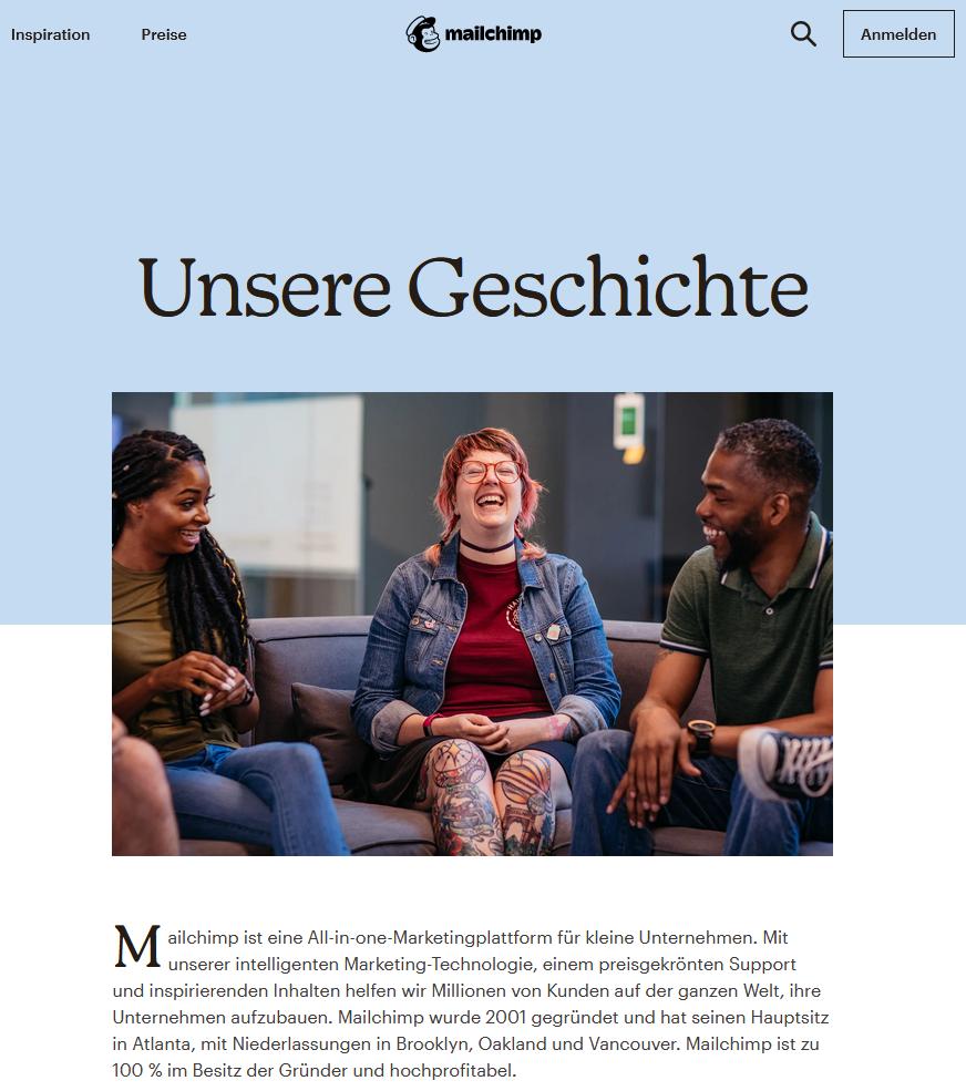 MailChimp: Unsere Gesichte