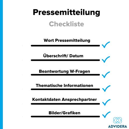Pressemitteilung schreiben Checkliste
