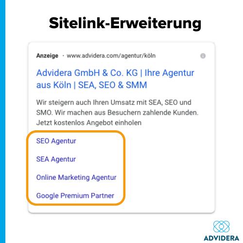 Anzeigenerweiterungen_Sitelink