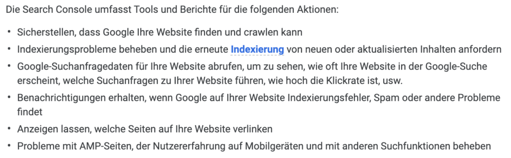 Google Search Console technisches SEO
