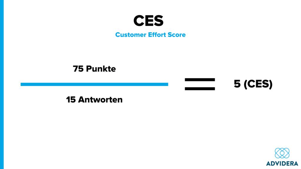 Customer Effort Score Rechnung Beispiel