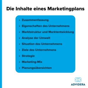 Die Inhalte eines Marketingplans