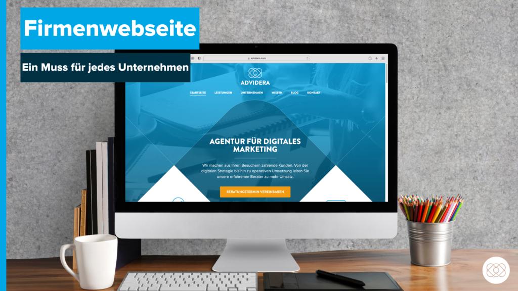 Firmenwebseite Titelbild