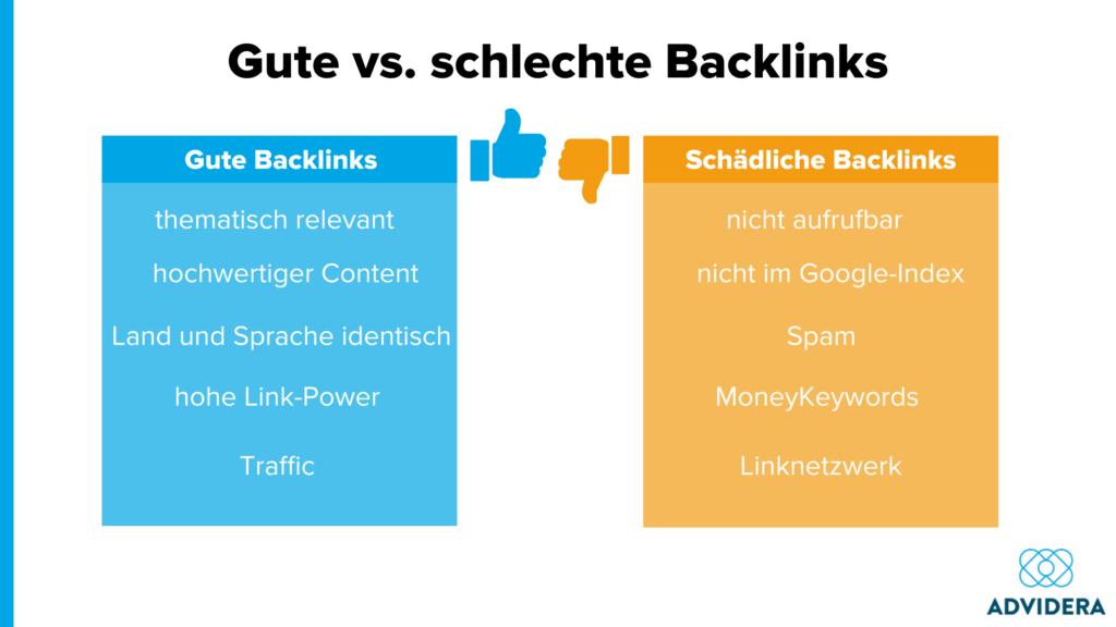 Gute und schlechte Backlinks